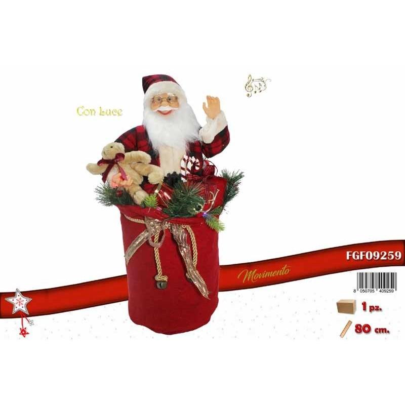 Babbo Natale Musicale.Fgf Babbo Natale Con Luce Musica E Movimento Cm 80 Fgf09259