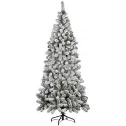 Decorazioni Natalizie 94.Flora Albero Natale Kenya Floccato Cm 210